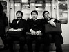 The commute. (c_c_clason) Tags: leica blackandwhite japan train tokyo suits metro digilux2 schwarzweiss businessmen