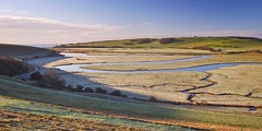 Cold Cuckmere (Phil John Martin) Tags: morning light downs sussex frost seaford cuckmere meanders