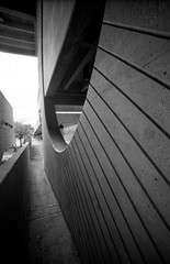 Round 2 (Burnt Umber) Tags: urban film college 35mm concrete education stair florida kodak miami steps structure explore pentaxk1000 scala form railing brutalism brutalist brutal ue urbex 400cn dade architectute allrightsreserved flurbex tamronadaptall2sp17mmf35 rpilla001