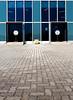 167 - Vasarely (StormPictures) Tags: blue white black glass lines canon circle eos noir colours perspective bleu 5d blanc 1740 lignes vitres urbain vasarely urbex simmetry ronds perspectiv symmétrie vazarely