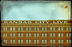 KANSAS CITY LIVE (FotoEdge) Tags: usa sign clouds liberty cattle cows live flag grunge ghost letters memories 19thcentury rusty gritty mo kansascity faded american missouri americana weathered layers kc ghostly 20thcentury trade kcmo westbottoms kansascitylive genessee fotoedge bobtravaglione travaglione