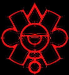 Ollin en sangre / Bloody Ollin (ix 2015) Tags: sign mxico square mexico aztec edited digitalart ps movimiento artedigital mexica editada ollin signo azteca glifo israfel67