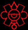 Ollin en sangre / Bloody Ollin (ix 2017) Tags: sign méxico square mexico aztec edited digitalart ps movimiento artedigital mexica editada ollin signo azteca glifo israfel67
