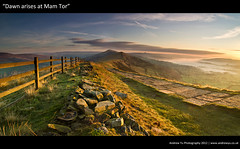 """Dawn Arises at Mam Tor"" (awhyu) Tags: hope dawn cross hill cement valley works tor lose mam gritstone castleton hollins backtor arises"