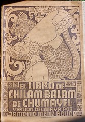 Chilam Balam de Chumayel (mystuart) Tags: portrait history paper book maya decorative library yucatan libro northcarolina literature collection cover biblioteca jaguar publishing rare chapelhill bookdesign wilsonlibrary georgestuart chumayel chilambalam medizbolio antoniomedizbolio