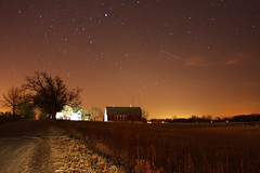 Midnight Barn (thisisbrianfisher) Tags: light tree night barn plane canon dark stars long exposure streak michigan farm brian fisher saline brianfisher