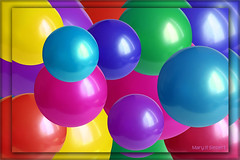 Balls (merripat) Tags: pink blue red color green colors yellow photoshop ball aqua purple balls plastic sphere spheres plasticballs plasticball