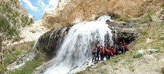 Z waterfall Photo opp on the Zanskar river Adventure rafting and Kayaking