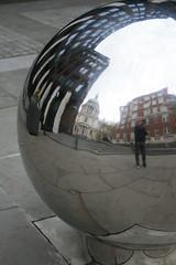 Sphere (London), UK (Avenue'86) Tags: uk distortion reflection london mirror object sphere londres april stpaulscathedral avenue urbandesign 86 engeland 2012 londen citytrip erpelschott