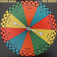 Colour Bingo Peg Spinner YELLOW (Leo Reynolds) Tags: canon eos iso100 squaredcircle lotto f80 bingo peg spinner loto housie housey 37mm 0125sec 40d hpexif houseyhousey housiehousie xleol30x sqset076