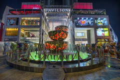 Pavilion Crystal Fountain in Bukit Bintang Kuala Lumpur Malaysia - HDR (David Gn Photography) Tags: bukitbintang kualalumpur selangor malaysia kl shopping entertainment district night scene pavilion crystal fountain mall lights jalan bintang walk travel tourism landmark liuli starhill 3exp hdr sigma1020mmf35exdchsm canoneos60d