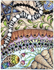Example 2 for coloring packets (carolynboettner) Tags: zias zentangle zendoodle
