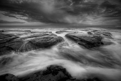ITS ALL ABOUT THE CLOUDS (Steve Boote..) Tags: sunset sea blackandwhite bw cloud seascape mono coast dusk monotone northumbria northsea coastline gitzo whitleybay tyneandwear stmaryslighthouse northeastengland sigma1020f456exdchsm leefilters baitisland canoneos7d koodfilters steveboote
