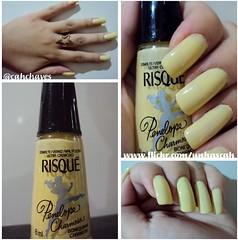 Risqué - Bonequinha  Charmosa (Camila (unhas)) Tags: yellow hand nail amarelo nailpolish mão unhas risque esmalte