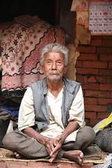Portraits of Old Age on my Travels Kathmandu Nepal (eriagn) Tags: old city travel nepal portrait man face canon beard eos grey asia sitting culture elderly elder weathered kathmandu gaze bearded crosslegged travelphotography directgaze revered eriagn ngairelawson