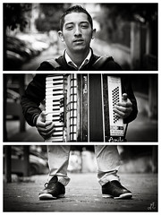 Claudio | Triptych - Eboli (SA) Italy (Francesco Agresti  www.francescoagresti.com) Tags: street portrait people blackandwhite bw italy monochrome person photography blackwhite triptych bokeh sony streetphotography vignetting helios triptychs nex helios58mm nex3 sonynex s8un3no frankies8un3no