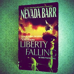 finished my book - Liberty Falling (f l a m i n g o) Tags: newyork mystery book photo newjersey pages manhattan review picture read novel statueofliberty author effect app ellisisland ladyliberty iphone nevadabarr lomora libertyfalling