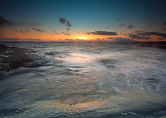 As the Sun Goes Down (PeterYoung1.) Tags: sunset seascape water scotland colours scenic