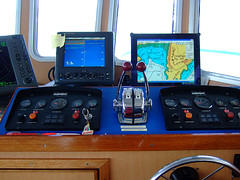 Wheelhouse Equip (Little Boffin (PeterEdin)) Tags: island islands scotland clyde boat marine ship fuji alba ships vessel deck f30 finepix fujifilm panels nautical rv instruments knobs westcoast switches isle isles accelerator dials gauges throttle levers instrumentpanel ayrshire ecosse universityofglasgow isleofcumbrae wheelhouse cumbrae universityoflondon umbs clydeestuary greatcumbrae actinia northayrshire researchvessel finepixf30 fujifilmf30 umbsm universitymarinebiologicalstation researchvessels enginecontrol rvactinia throttlelevers shipinstruments marinesystems