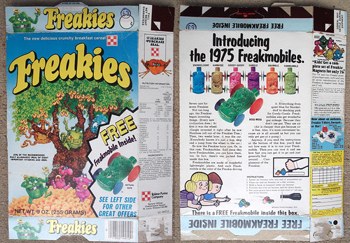 1974 Ralston Freakies Cereal Box Freakmobile