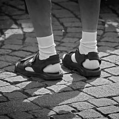 Spring is back... (NRG Photos) Tags: blackandwhite socks spring sandals archive socken whitesocks frhling archiv sandalen fashioncrime mnnerbeine schwarzweis menslegs weisesocken modeverbrechen