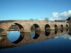 Reflective Substance (Jim Lock) Tags: bridge reflection river dumfries nith