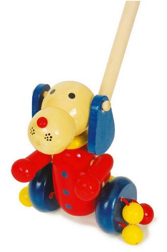 Wooden Push along dog