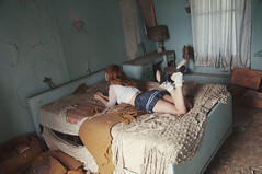 (yyellowbird) Tags: house selfportrait abandoned girl illinois bed bedroom lolita cari