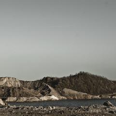 billwerder moorfleet V [andre gansebohm] (Andre Gansebohm) Tags: dark square grit grey sand quiet calm contrasts gravel muted