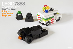 Lego 7888 pocket edition  The Tumbler: Joker's (micro) Ice Cream Surprise (_Tiler) Tags: lego micro batman joker dccomics batmobile batmanbegins moc tumbler thedarkknight microscale legotumbler legobatmobile lego7888 lego7888thetumblerjokersicecreamsurprise