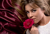 Irina (Nicolò Occhipinti) Tags: red portrait flower girl shiny gerbera satin rosso blueyes timida raso flickrandroidapp:filter=none
