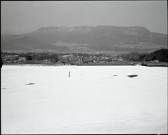 _ (bensn) Tags: winter blackandwhite snow mountains mamiya film japan fuji medium format 100 f4 gunma acros 80mm 7ii
