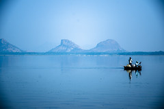 FishBoat (Udaya Karthick) Tags: people lake nature water beautiful landscape boats boat fishing nikon arts blues rowing
