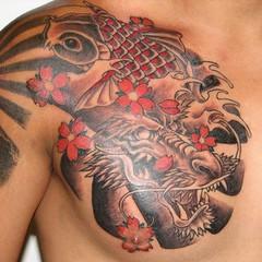 Amazing Asian Dragon Koi Fish Tattoo Ideas Design #9 (tattoos_addict) Tags: fish tattoo asian design amazing dragon 9 koi ideas dragontattoo dragontattoos