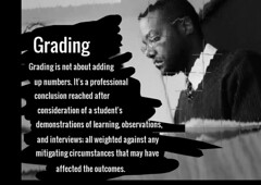 "Educational Postcard:  ""Grading is not about adding up numbers...."" (Ken Whytock) Tags: students up observation professional demonstration numbers learning adding grading conclusion affected consideration weighted circumstances outcomes mitigating inerviews"
