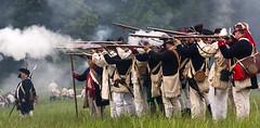 The Continental Line Erupts (Rob Shenk) Tags: virginia colonial rifles event soldiers muskets revolutionarywar americanrevolution reenactment mountvernon gunfire revwar continentalarmy continentalline 1stvirginia