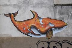 Orca (HBA_JIJO) Tags: urban streetart paris france pasteup art animal collage wall painting paper wheatpaste peinture mur papier orcinusorca orque atomludik