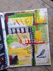 Sparrow 14932 (VinnyStrawberry :Art) Tags: mixedmedia visualjournal artjournal