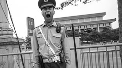 (Anwen2010) Tags: china street bw monochrome beijing tiananmensquare tiananmen ricohgr