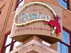 El Nuevo Rodeo, Minneapolis, MN (Robby Virus) Tags: horse food minnesota sign mexico restaurant cowboy neon minneapolis lodge odd mexican rodeo nuevo fellows lasso ioof