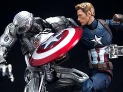 captainamericaP5271140 (Toyman_) Tags: actionfigure civilwar marvel captainamerica bandai ultron revoltech shfiguarts avengersageofultron