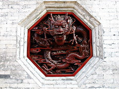 Dragon (Box of Badgers) Tags: china red wall design asia dragon carving xian wildgoosepagoda