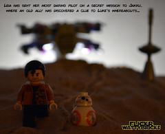 Jakku Arrival (WattyBricks) Tags: lego star wars episode vii the force awakens poe dameron bb8 jakku xwing fighter