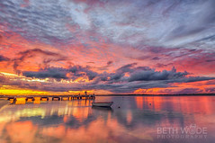 Military Jetty Sunrise - explored 12/06/16 (Beth Wode Photography) Tags: morning seascape clouds sunrise reflections dawn pier boat beth jetty daybreak sunriseclouds wode bethwode tinniw
