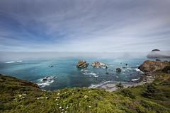 Words Divided (RH Miller) Tags: ocean usa seascape fog oregon landscape pacificocean oregoncoast reedmiller rhmiller