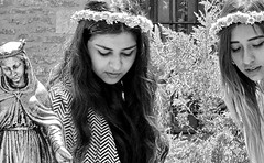 Mary and the flower girls (iamsufi) Tags: ephesus turkey girls mary jesus statue pretty iamsufi