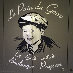 'The Bread Gone, The Taste Grows' (Greatest Paka Photography) Tags: urban france art sign fence poster french baker lyon bakery peasant