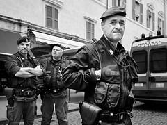 . (alb.montagna) Tags: street portrait people blackandwhite bw italy monochrome italia streetphotography police streetportrait persone ferrara zuiko polizia monochromeworld olympusomdem10mkii