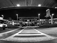 Miami International Airport (Amigo Juan) Tags: street travel blackandwhite airport traffic miami crosswalk