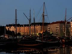 Dusk or dawn - take your pick (KaarinaT) Tags: sailboat buildings finland boats dawn boat helsinki dusk peaceful serene sailboats katajanokka nightlessnight aroundmiddsummer inthestillofthesummernight